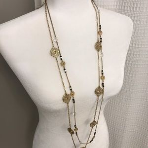 Jewelry - Black & gold chain necklaces (set of 2)